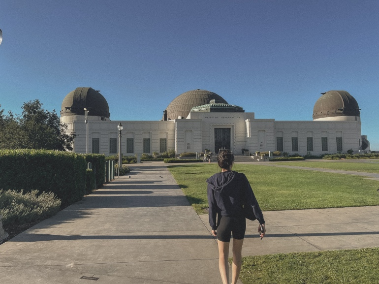 Close up view of the Griffith Observatory