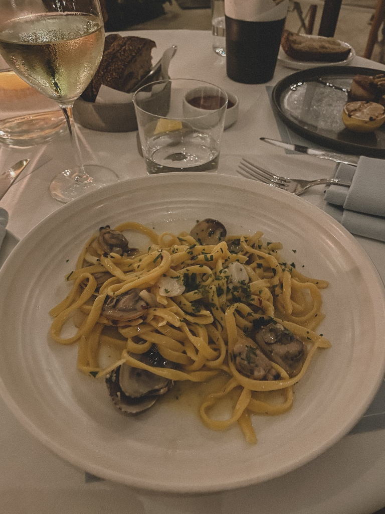 Clam Linguine Pasta | The Terrace at the Maybourne Beverly Hills